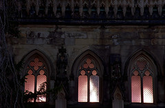 """Cincinnati - Spring Grove Cemetery & Arboretum """"Dexter Mausoleum Windows At Evening"""" (David Paul Ohmer) Tags: cincinnati ohio spring grove cemetery arboretum dexter mausoeum windows light glow"""