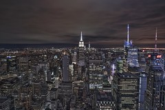 Concrete Jungle (karinavera) Tags: city longexposure night photography cityscape urban ilcea7m2 sunset newyork manhattan empirestate nyc