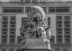 The five continents reading Don Quixote (Miguel Angel Prieto Ciudad) Tags: sculpture statue tourism monument history culture art donquixote black white blancoynegro monochrome literature spain madrid sonyalpha alpha3000 mirrorless