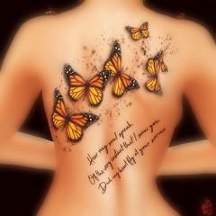 HEAR MY SOUL SPEAK (Rachel Swallows) Tags: eleven roleplay elf fairy fantasy magical magic tattoo butterfly butterflies maitreya belleza slink omega