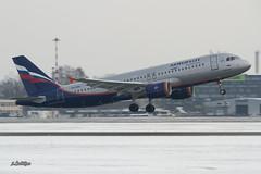 IMG_0936@L6 (Logan-26) Tags: airbus a320214 vqbax msn 3778 gnevelskoy aeroflot russian airlines riga international rix evra latvia airport winter snow aleksandrs čubikins