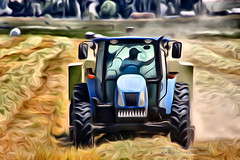 Tractor Baling Hay (Vern Krutein) Tags: petaluma california usa tractor balinghay rolls dust dusty newhollandt5070 tworockvalley sonomacounty northerncaliforniacoast farming agricultureinnorthamerica agricultural farmlands flora fields agronomics food farmfields foodproduction