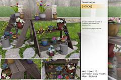 Sway's [Hanae] Flower Ladder | TLC (Sway Dench / Sway's) Tags: sways flower spring tlc sl vr virtual 3d ladder tulips pots garden wood