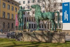 2019 Bike 180: Day 32, March 3 (suzanne~) Tags: munich germany bavaria rossebändiger arcisstrase tu bronze sculpture horse hermannhahn bernhardbleeker 2019bike180