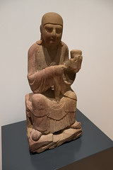 Chinese Luohan monk with offering (quinet) Tags: 2017 antik asia canada ontario rom royalontariomuseum toronto ancien antique