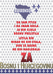 DA SAM PTICA I DA IMAM KRILA (AntiDayton) Tags: rbihrepublikabih bih bosnaihercegovina republika bosna hercegovina ljiljani referendum