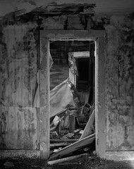 In an Abandoned Farmhouse, Eastern Washington (austin granger) Tags: washington palouse abandoned farmhouse doorway ruin time impermanence geometry film largeformat chamonix