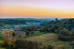 Tuscia Countryside, Tuscania, Central Italy (Claudio_R_1973) Tags: pastel dusk country countryside tuscania tuscia centralitaly landscape rural grassland fields hazy outdoor nature lazio viterbese