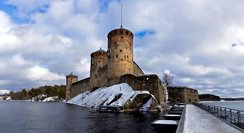 Panorama of the Olavinlinna fortress. Олавинлинна.