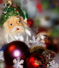 "Colorful Christmas  ""Macro Mondays"" (marieschubert1) Tags: ornaments christmas glass color colorful red white green ""holiday bokeh"" ""macro mondays"""