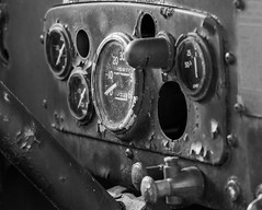 Instrument Cluster (arckphoto) Tags: riverdale z7 massachusetts winter northbridge unitedstates us nikon urbex decay derelict fireengine trucks rust blackandwhite firetruck