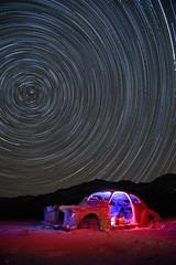 death valley stars (Sean Vallely) Tags: deathvalley abandonedcar startrails stars desertcar mojave california