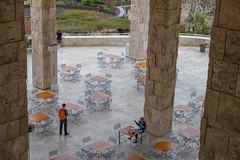 Getty Pillars (Robert Borden) Tags: cafe pillars thegetty getty gettycenter thegettymuseum tables tabletops losangeles la california ca west usa northamerica fujifilmxt2 fuji fujiphoto fujiphotography 50mm 50mmlens 50mmphotography street