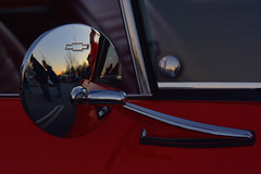 Chevelle side mirror (Light Orchard) Tags: car auto automobile voiture chevrolet chevy chevelle ss supersport muscle 396 ©2019lightorchard bruceschneider caffeineoctane american