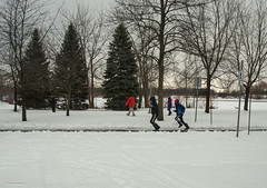 snowplay (Lou Musacchio) Tags: parcdesrapides children kids childrenplaying villelasalle montreal quebec canada