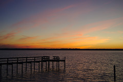 1/25 sunset, 35 mm shot. (seanrobertson02) Tags: happiness peace nikkor d40x nikon shoreline yorkriver virginia gloucester river beach winter beautiful colors sunset 35mm