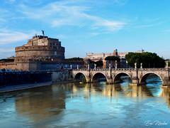 Rome (litang13) Tags: flickrunitedaward rome roma saintange castel chateau hadrien ville city bleu couleur pastel