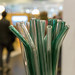 Eco-friendly glassy straws for reduction of plastic, background with blur