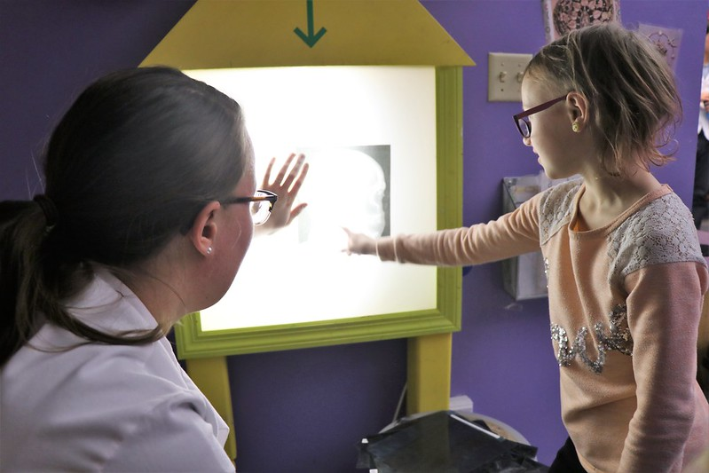UI Carver College of Medicine students hosted healthcare activities at Iowa Children's Museum Family Free STEM night in January for hundreds of children and families.