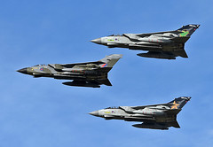 Tornado Farewell Flypast Lossie 21-2-19 (np1991) Tags: royal air force raf lossiemouth lossie moray scotland united kingdom uk nikon digital slr dslr d7200 camera nikor 70200mm 70 200 f28 vr lens aviation planes aircraft panavia tornado gr4 gr tonka marham ixb ix nine 9 b bomber 31 thirty one squadron sqn special scheme farewell tour camouflage camo retro zg752 zg775 zd716 dh af swept
