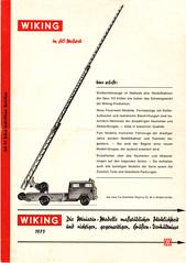 Wiking-1973-1 (adrianz toyz) Tags: wiking west germany berlin plastic models 187 ho 190 catalogue brochure list model adrianztoyz scale verkehrs modelle car bus truck lorry van 1973 prospekte
