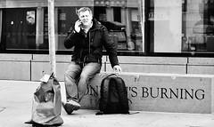 In The Hot Seat (jaykay72.) Tags: london uk street candid streetphotography monumentstreet stphotographia blackandwhite bw