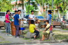 Jamming (Beegee49) Tags: street boys drumming group music drums luminar sony a6000 silay city philippines asia