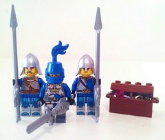 Lord Fisher (LegoHobbitFan) Tags: lego moc creation build model fish figbarf custom purist minifig minifigures blue castle medieval knight chest sword spear
