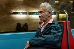 'Linha Verde' (Canadapt) Tags: man seated subway metro lisbon portugal canadapt portrait