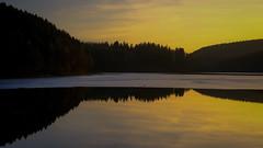 Listertalsperre (Werner Schnell Images (2.stream)) Tags: ws listertalsperre talsperre wasser water wald eis sunset sonnenuntergang