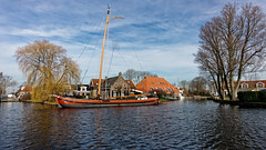 A Day In Heeg (Alfred Grupstra) Tags: nauticalvessel netherlands water canal dutchculture architecture river house outdoors famousplace urbanscene europe tourism cultures buildingexterior history builtstructure old travel heeg