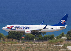 Travel Service 737-800 OK-TSD (birrlad) Tags: rhodes rho international airport greece aircraft aviation airplane airplanes airline airliner airlines airways arrival arriving approach finals landing runway boeing b737 b738 737 737800 7378q8 oktsd travelservice