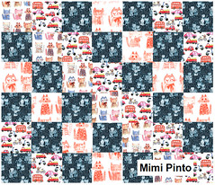 mimipinto spoonflower (MimiPintoArt) Tags: nursery baby new born shower gift ideas quilt crib sheet blanket minky fleece swaddle cloth burp quilting patchwork sewing crafts diy