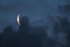 Crescent Moon (iansand) Tags: moon crescent cloud