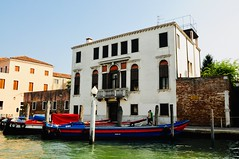 Working boats along the canal - Venice, Italy (stevelamb007) Tags: architecture building venice italy boats canal d90