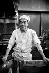Our local Udon maker on Shikoku (DanÅke Carlsson) Tags: japan japanese shikoku restaurant kitchen udon maker portrait man male cook traditional food noodles
