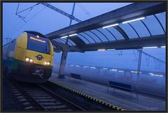 "Misty Morning Train ("" Wiener Schule "") Tags: gysev eisenbahn railway railroad bratislava petrzalka bratislavapetrzalka desiroml ventus 4744"