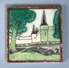 Tile - Unknown manufacturer 15cm x 15cm (Psychoceramicus) Tags: tubelined tile tube lined ceramic pottery