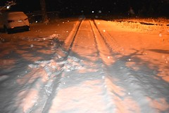 End of the road (thomasgorman1) Tags: road snow nikon snowfall az car flash dark arizona overgaard night snowflakes