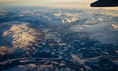 La vall del Målselva / Målselva river (SBA73) Tags: noruega norway norge troms artic hivern winter neu nieve snow schnee fred frio cold flugzeug sas 737 aircraft airplane plane flight malselv malselva bardufoss airport
