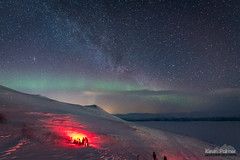Red Group (kevin-palmer) Tags: abisko sweden swedishlapland europe arctic march winter cold snow snowy nuolja scandinavianmountains nikond750 auroraskystation auroraborealis aurora northernlights faint kp0 green evening sigma14mmf18 red light night sky stars starry astronomy astrophotography clear dark tornetrask north andromeda
