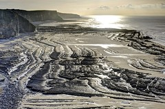 Back to Black (pauldunn52) Tags: temple bay glamorgan heritage coast wales beach platforms cliffs sun