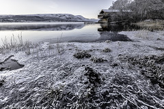 Ice (Images from the Dark Side) Tags: niksilver ullswater dukeofportland boathouse frost frozen morning ice icy sunrise lake