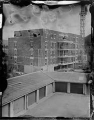 Construction building (cedricmarino) Tags: collodion large format 4x5 wista field symmar 150mm schneider building wet plate ambrotype glass first alternative process