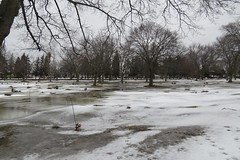 Woodland's Cemetery, Burlington. (Gillian Floyd Photography) Tags: woodlands cemetery ice snow winter melting ponds