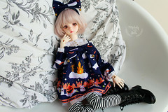 Halloween girl (~ Melody and the dolls ~) Tags: dim flowne bjd doll
