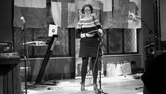 Event Horizon March 2019 011 (byronv2) Tags: woman author writer books reading literature literary sciencefiction stage portrait shorelineofinfinity eventhorizon edinburgh edimbourg scotland georgeivbridge frankensteins blackandwhite blackwhite bw monochrome