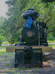 Old Cabbage Head, 2-6-2 Number 2, Manatee Village Historical Park, Bradenton,FL (4 of 6) (gg1electrice60) Tags: oldcabbagehead bulbousshapedsmokestack sparkarresstorsmokestack manateevillagehistoricalpark 1404manateeaveeastbradentonfl34208 stateroad64 sr64 manateeavenue manateeave 1404manateeaveebradentonfl built1913 builtbybaldwinlocomotiveworks 1913baldwin steamengine steamlocomotive number2 no2 2 woodburninglocomotive woodburningengine florida fl bradenton manateecounty unitedstates usa us america steam 262prairie 262wheelarrangement 262 whytenotationprairie plaque manateecountyhistoricalcommission