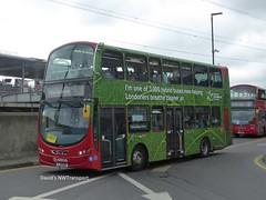 Arriva London, HV035 [LJ11EGD] - Canning Town (16/06/18) (David's NWTransport) Tags: arrivalondon arriva lj11egd wrightgemini wrightbus volvob5lh volvohybrid volvo hybrid