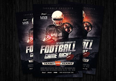 Football game night flyer (amziz8457) Tags: abstract american art ball champion championship college competition concept cup design download event flyer football game goal graphic league match poster sport sports team template tournament psd